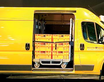Transportgestell für Deutsche Post